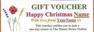 Voucher for Christmas Courses