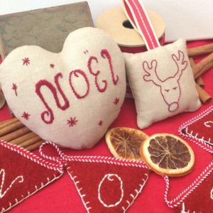 Hand Stitched Scented Christmas Decorations