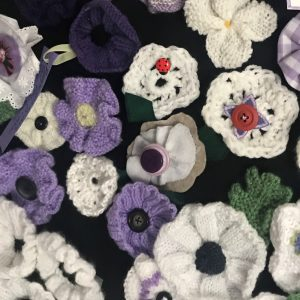 White and purple poppies